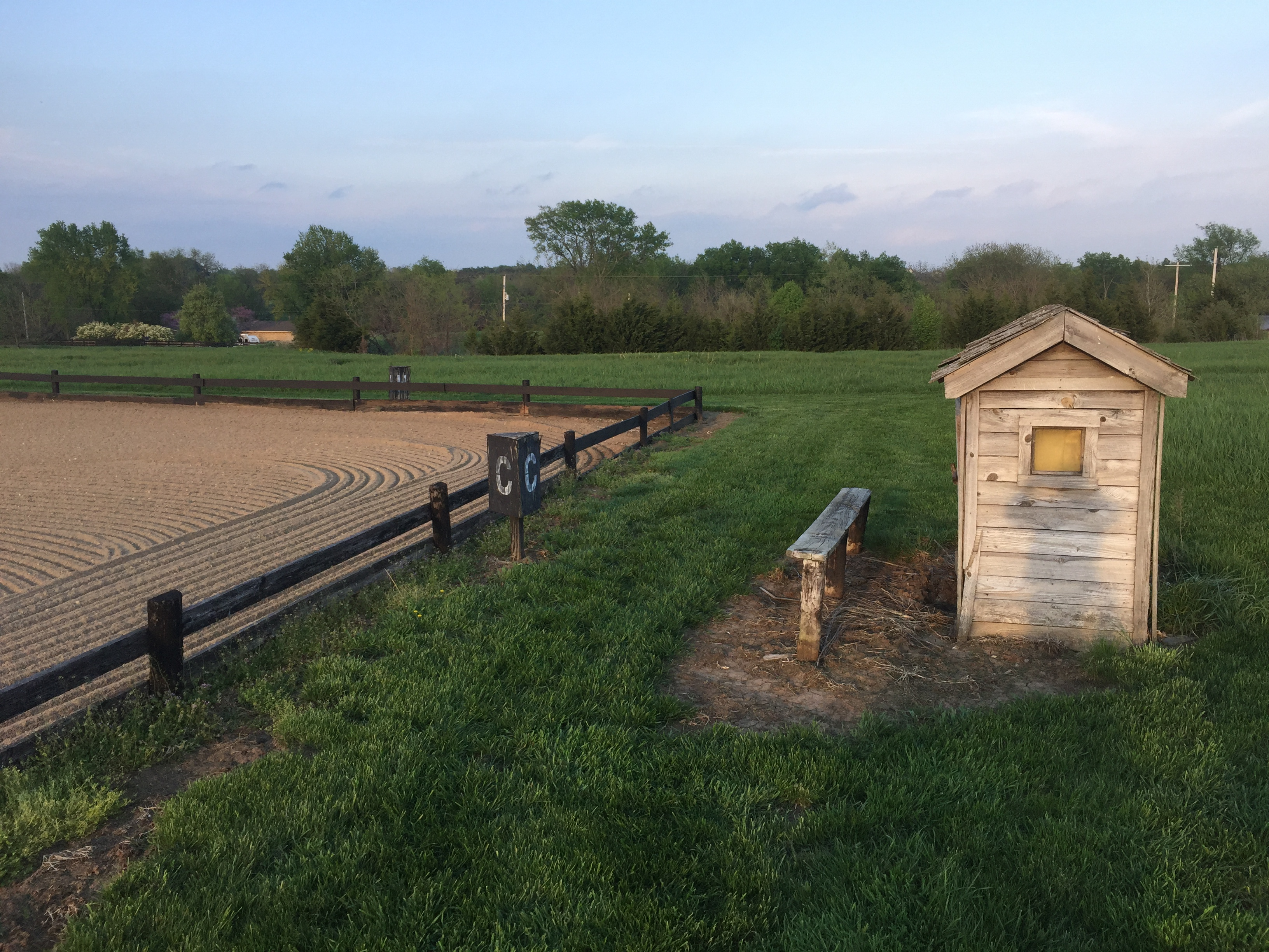Outdoor riding arena